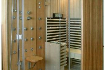 Комбинирано помещение – сауна, парна кабина, душ
